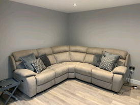New Corner suite sofa with electric recliners and USB charging Points