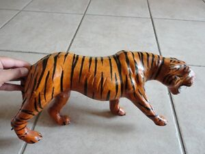 Tiger statue figurine leather decorative accent London Ontario image 5