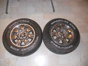 2 Goodyear Wrangler ATS tires and F150 Rims