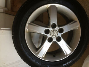 Snow tires with Mazda rims