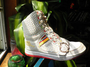 Apple Bottom High Top Sneakers