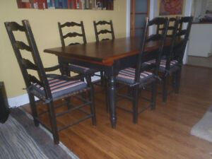 Antique, French Country Dining room set