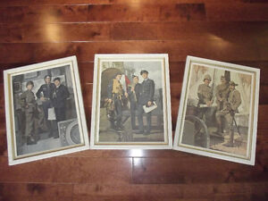 VINTAGE CANADIAN ARMY SOLDIER LITHOGRAPHS