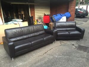 Great condition leather couch, living room, family room, 5 seater Elanora Heights Pittwater Area Preview