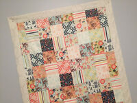 Riley Blake Woodland Crib Quilt for a Baby Girl