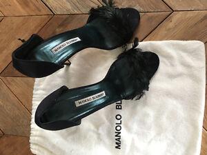 Manolo Blahnik feather heels