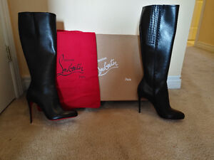 New! Christian Louboutin leather boots