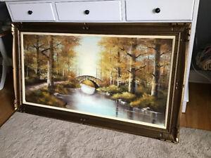 Vintage Oil on canvas, framed