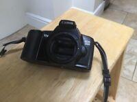Cannon EOS film camera and case