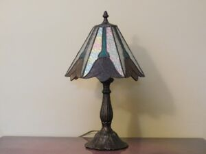 Stained Glass Lamp with Bronze Base 20''