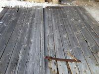Anciennes portes de grange originales ( 20 en stock)