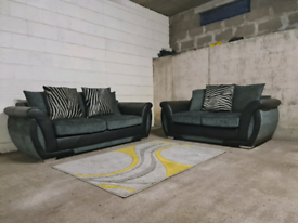 FREE DELIVERY 🚚 DFS Grey and Black Sofa Suite, Couch set, Furniture