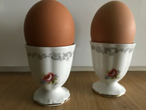 Set of 2 egg cups or egg servers.Tranquillity Royal Albert China