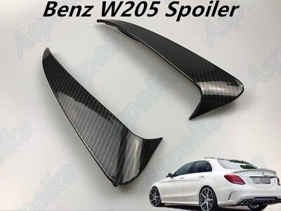 C43 AMG Carbon Fiber Style Canard/Air Vent Cover Trim For Benz C class W205 4-D