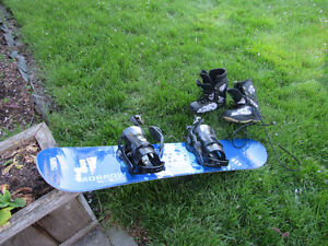 Kids board, binds, and boots