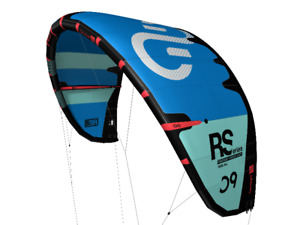 2018 Eleveight RS 10m Kiteboarding Kite (Blue w Teal Stripes)