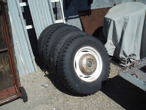 16 inch Ford rims and tires 5 1/4