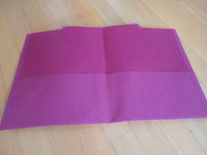 Brand new lot of 9 pink two pocket folders London Ontario image 1