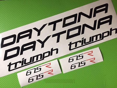 Triumph Daytona Decals Set Stickers Graphics Triple 675 Trackday