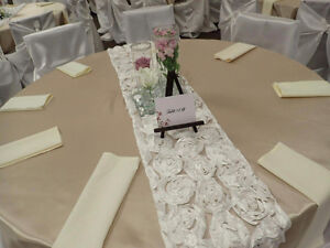 Wedding table covers and table runners