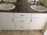 Vanity and Kitchen cabinet installation. Garage Cabinet installs