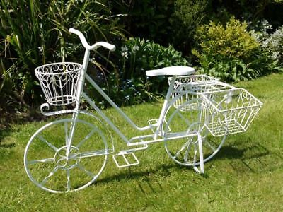 Aintree Vintage Bike Planter, Finished in Antique White