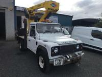 Land Rover Defender 130 2.4TDci 12.5 meter hydradraulic lift/cherry picker
