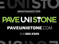 PAVE REPAIR - UNISTONE CLEANING - 514-582-3325