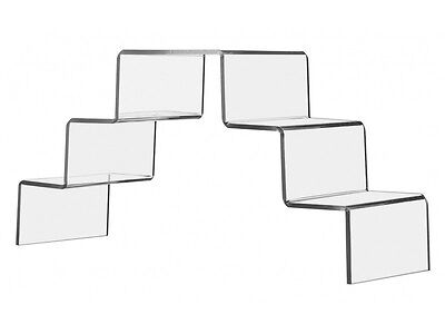 Staircase 5 Tier Clear Acrylic Stand Display Riser Retail And Home Use