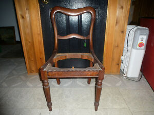 ANTIQUE MAHOGANY SIDE CHAIR-NEEDS TO BE RE-UPHOLSTERED-NEW PRICE Kingston Kingston Area image 4