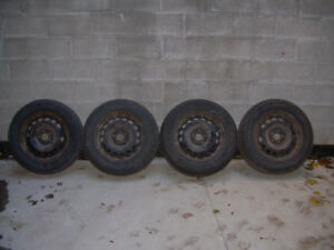 "Winter tires 185 70 R 16"" Maxtrek studded model trek M 900"