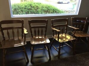 4 Genuine Maple Dining Room Chairs