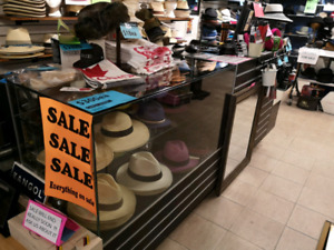 fixtures and hats  for sale(closing sale)