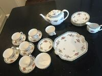 Spode Trapnell Sprays complete 6 place English tea set