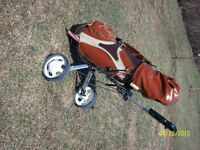 golf clubs,bag and cart