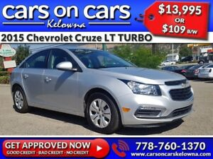 2015 Chevrolet Cruze LT TURBO w/BackUp Cam, BlueTooth, USB Conne