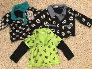 Very unique 12-18 month skeleton shirts from overseas