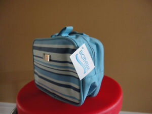 Brand new with tags biotherm blue striped makeup bag pouch London Ontario image 1