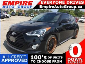2014 HYUNDAI VELOSTER TURBO * LEATHER * NAV * REAR CAM * PANO SU