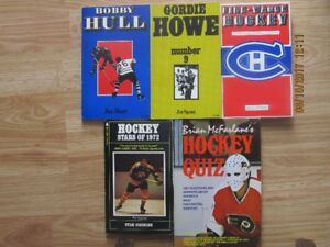 5 VINTAGE HOCKEY BOOKS – 1970 to 1974