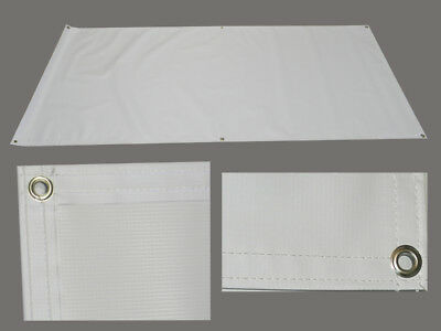 Blank Vinyl Sign Banner 3 X 3 13oz White Grommets