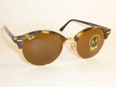 New RAY BAN Sunglasses Tortoise Frame CLUBROUND  RB 4246 1160  B-15 Brown (Ray Ban Round Sunglasses Tortoise Shell)