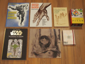 Drawing, Art Books - Pixar, Ashley Wood, James Jean