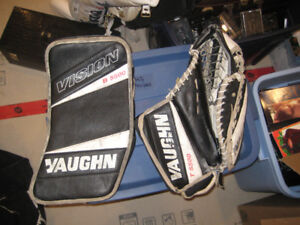 Free Vaughn Vision Hockey Goalie Glove and Blocker