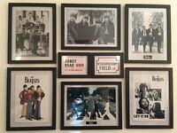 Very Nice Composition of Beatles Pictures (8 frames) Ideal for large deco 119 x 92 cm #HERUARSALES