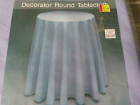 Decorated Round Tablecloth