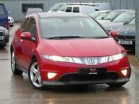 2008 Honda Civic 1.8 i-VTEC Type S GT 3dr - FULL 12 STAMP SERVICE HISTORY - RED