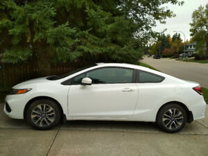 2014 Honda Civic EX Coupe (2 door) White with FREE WINTER TIRES!