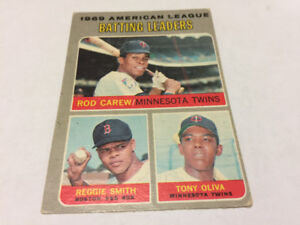 1970 OPC BASEBALL # 62 ROD CAREW TONY OLIVA MINNESOTA TWINS