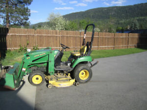 2005 John Deere yard tractor with attachments